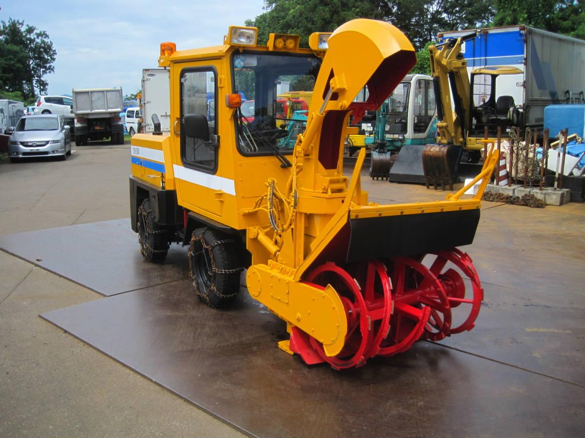 「小型ロータリ除雪車 TCM JR30-2 幅1m ロータリ除雪車 歩道用 2004年製 ロータリー除雪車 小型特殊」の画像1