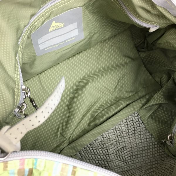 GREGORY/グレゴリー 2way!ハンド/ショルダーバッグ 黄緑×マルチカラー 管NO.B20-5