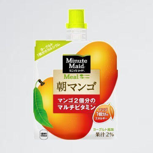 新品 未使用 ミニッツメイド コカ・コ-ラ 7-J0 ゼリ- 180mlパウチ×6個 朝マンゴ_画像1