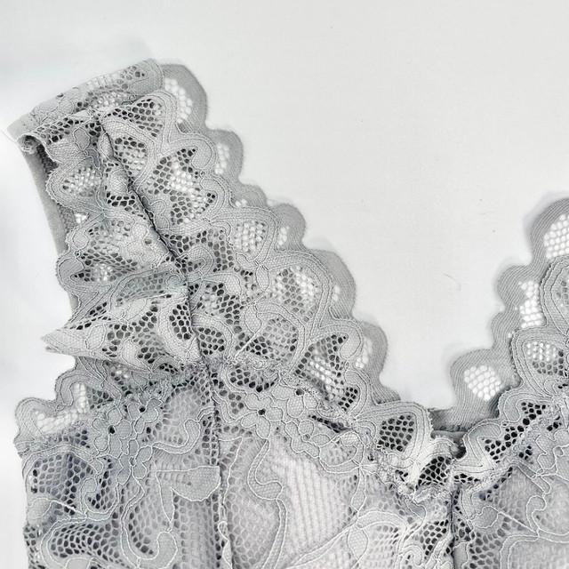 【最安値】優しい肌当たりで締め付けないナイトブラ グレー 育乳ブラ バストアップ 就寝用 下垂れ防止 ノンワイヤー 補正ブラ ymda 281_画像9