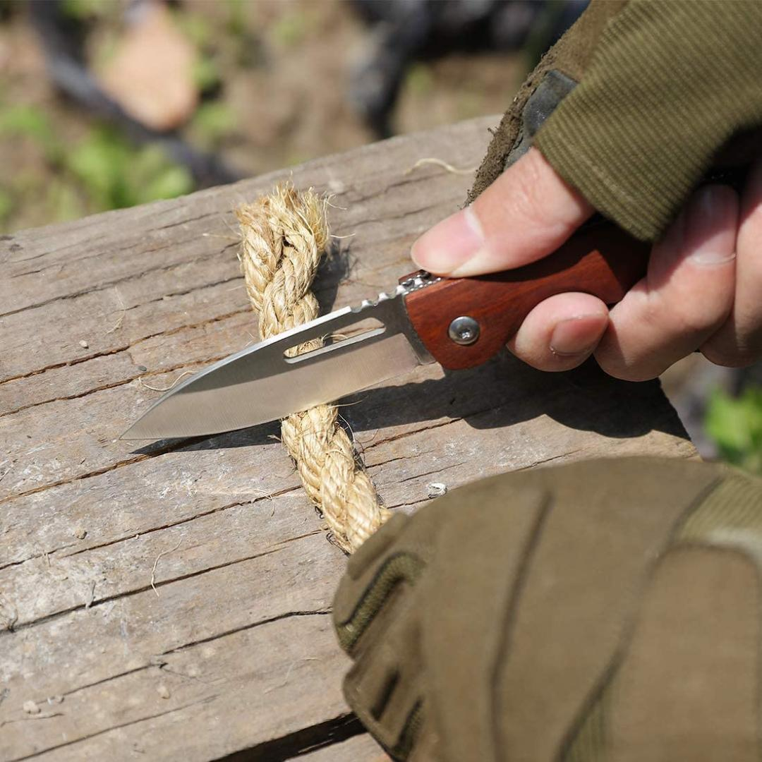 アウトドア用 MOSSY OAK 折りたたみナイフ フォールディングナイフ