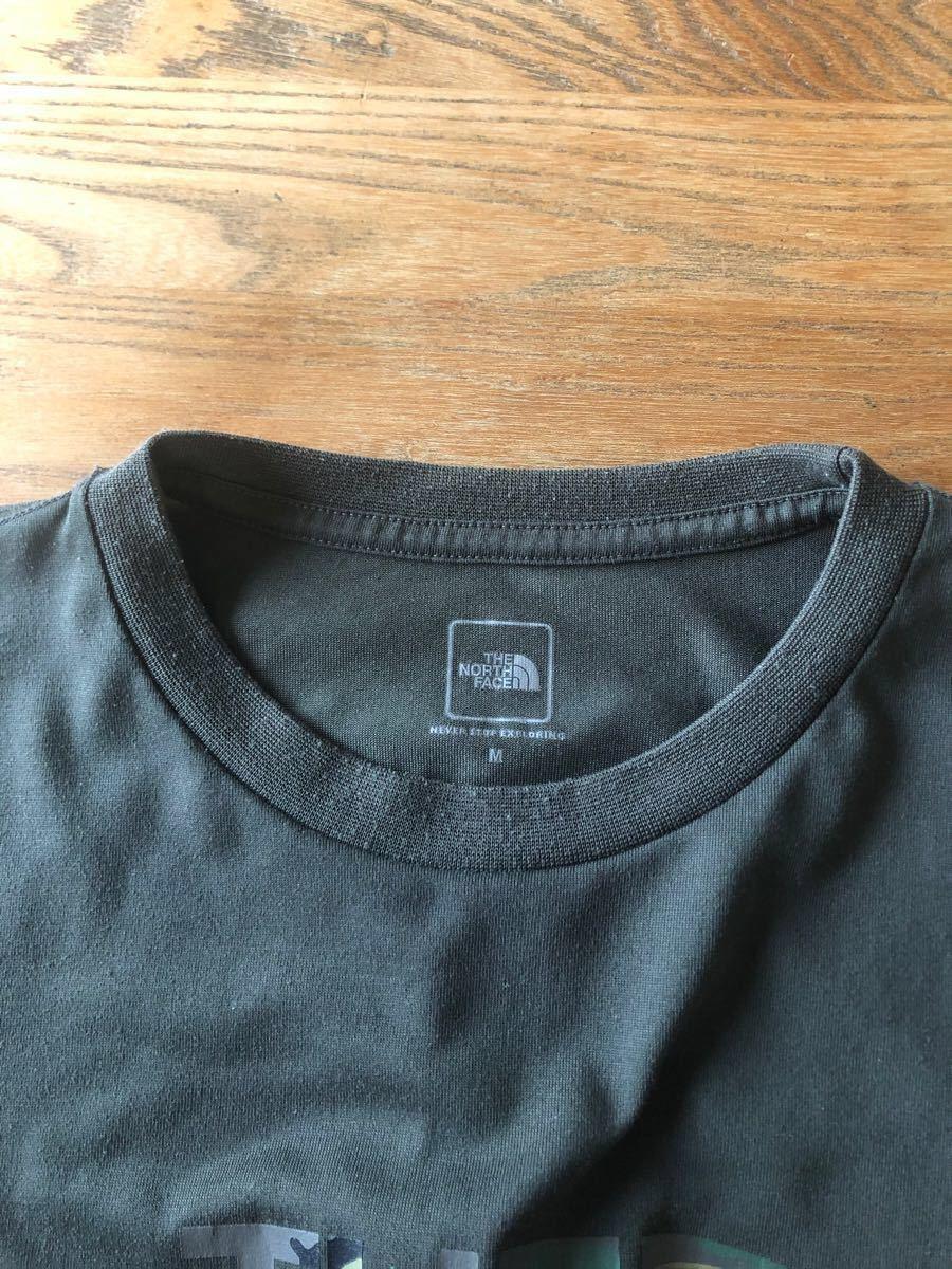 THE NORTH FACE(ザ・ノースフェイス) カモフラージュロゴ Tシャツ NT31932 ディープグリーン メンズM