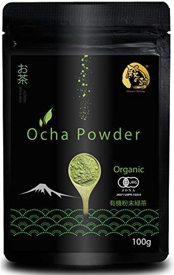 殿の朝 粉末 緑茶 パウダー お茶 国産 オーガニック 有機栽培 JAS認定 (100g)_画像1