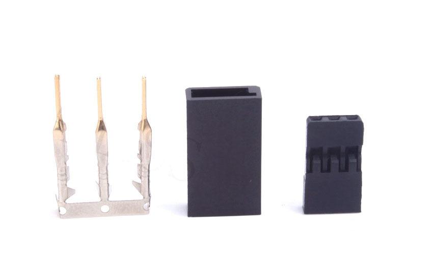 FUTABAタイプ自作用サーボコネクター オス+メスペア 金メッキ 50set 全国送料込み