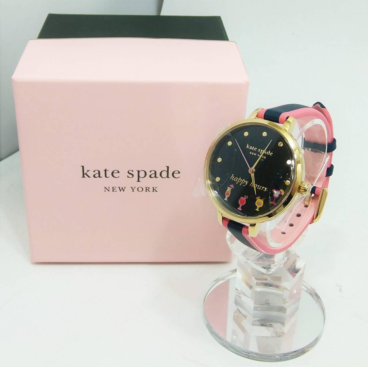 [未使用] ケイトスペード ニューヨーク kate spade NEW YORK メトロ ゴールドトーン ハッピーアワーウォッチ 腕時計 KSW1630_画像1