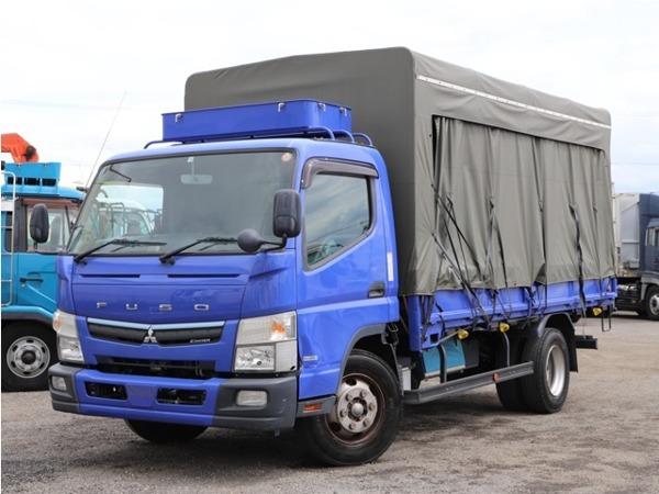 「キャンター 4.5t ワイドロング カーテン式幌車 平ボディ 増トン仕様 5MT」の画像1