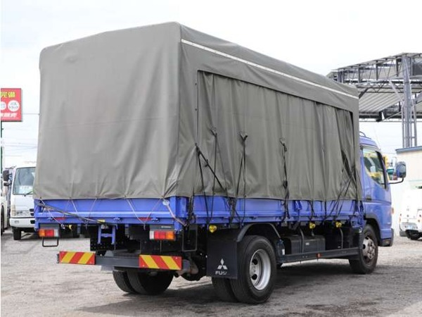「キャンター 4.5t ワイドロング カーテン式幌車 平ボディ 増トン仕様 5MT」の画像2
