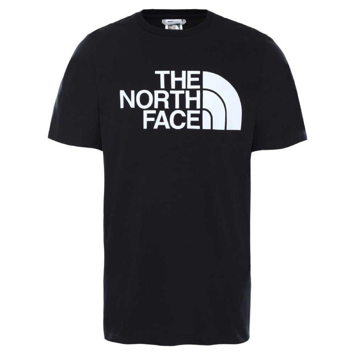人気THE NORTH FACE ザノースフェイス メンズ Tシャツ ハーフドームロゴ ブラック黒 海外-M(日本サイズL相当)