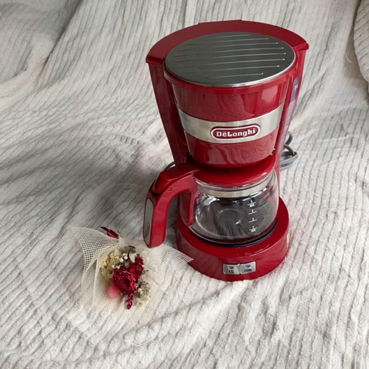 デロンギ ドリップコーヒーメーカー 赤