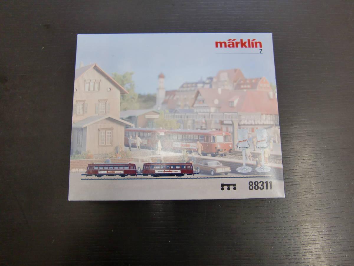 中古 メルクリン 88311 レールバス2両、グラスセット Zゲージ Marklin