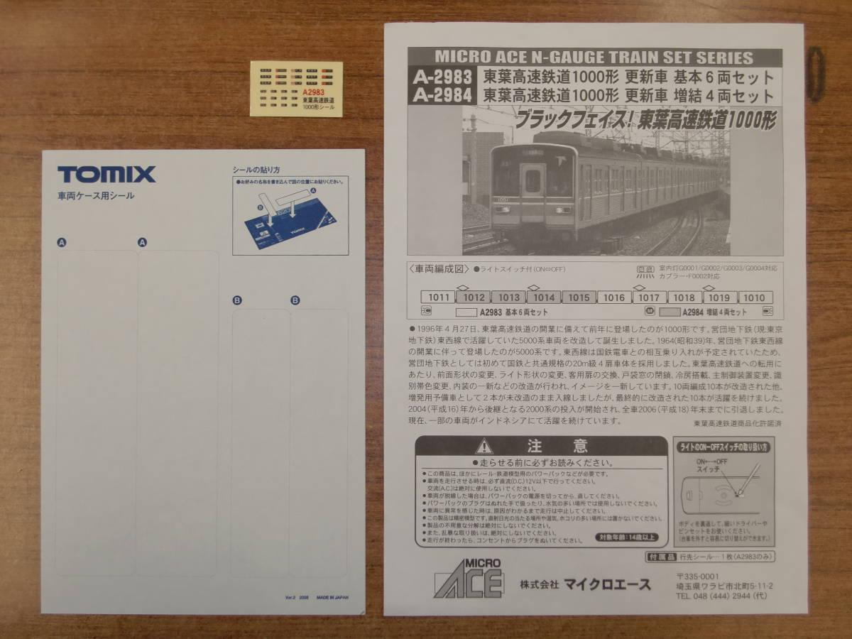 マイクロエース A-2983 東葉高速鉄道1000形 更新車 基本6両(元箱違い)