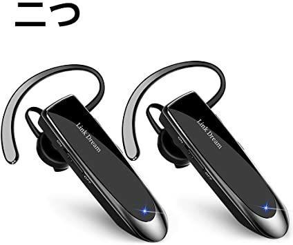 【@111000】2Black Bluetooth ワイヤレス ヘッドセット V4.1 片耳 日本語音声 マイク内蔵 ハンズフリー通話_画像1