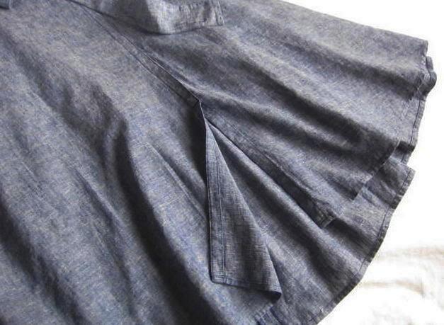 ◆プラステ PLST リネン ロング フレアースカート_画像2