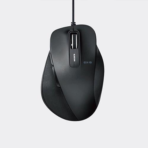 エレコム ELECOM M-XGM10UBBK [BlueLED 握りの極み 有線マウス 5ボタン Mサイズ ブラック] 未使用品 《送料無料》