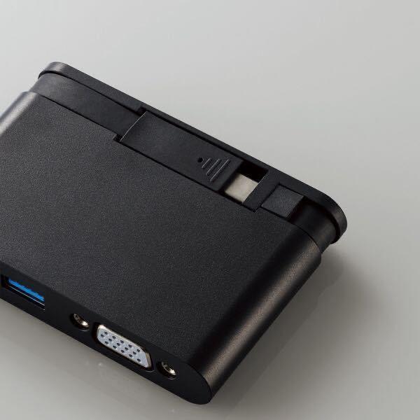 エレコム ELECOM DST-C07BK [USB Type-C接続モバイルドッキングステーション Power Delivery対応 ブラック] 未使用品 《送料無料》