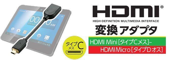 エレコム ELECOM TB-HDCDBK [タブレットPC用HDMI変換アダプタ] 未使用品 《送料無料》