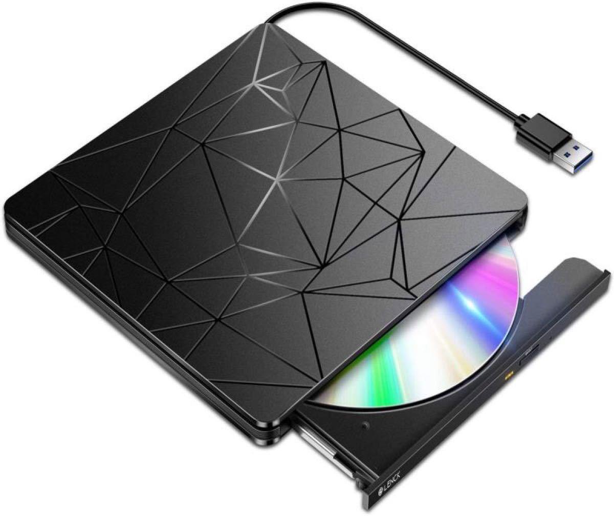 DVDドライブ 外付け 【進化バージョン USB3.0】 静音 高速 軽量日本語取扱説明書付