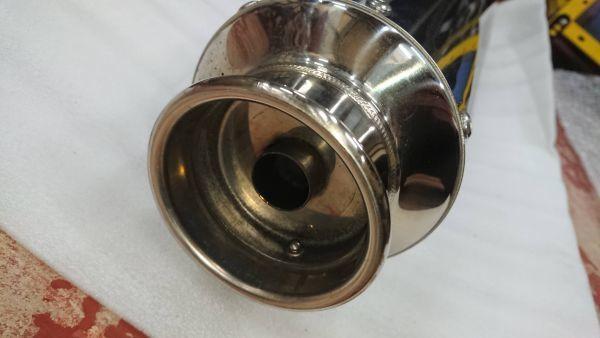 スカイウェイブ250(CJ45A) ビームスマフラーSS400ソニックSP バンテージ追加 中古美品_画像3