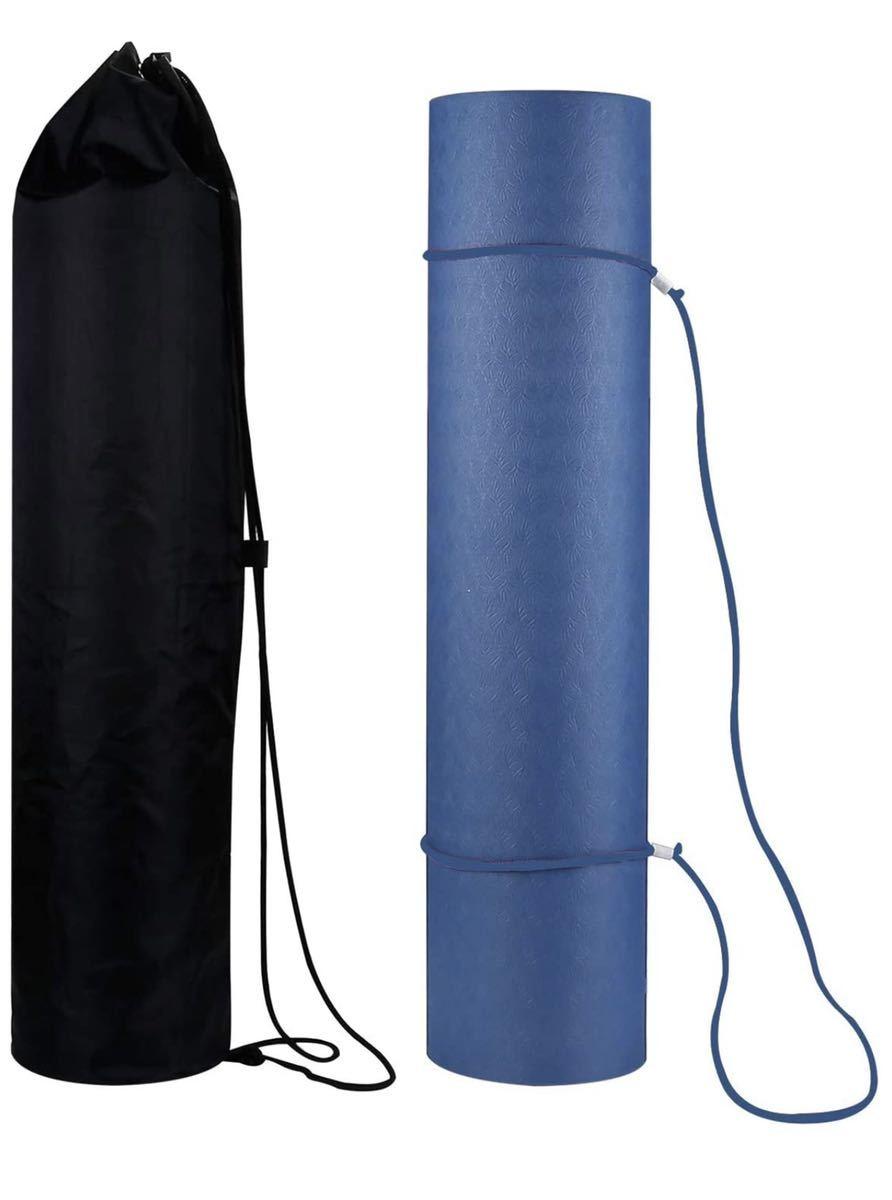 ヨガマット エクササイズマット フィットネスマット トレーニングマット 6mm TPE 2層2色 両面滑り止め 室内運動 ピラティスマット