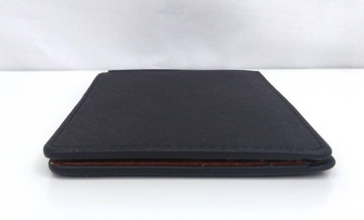DOLGED ドルジッド 薄型 マネークリップ 革札ばさみ カードケース 定期入れ 札入れ 二つ折り財布 メンズウォレット ブラック×ブラウン系_画像5