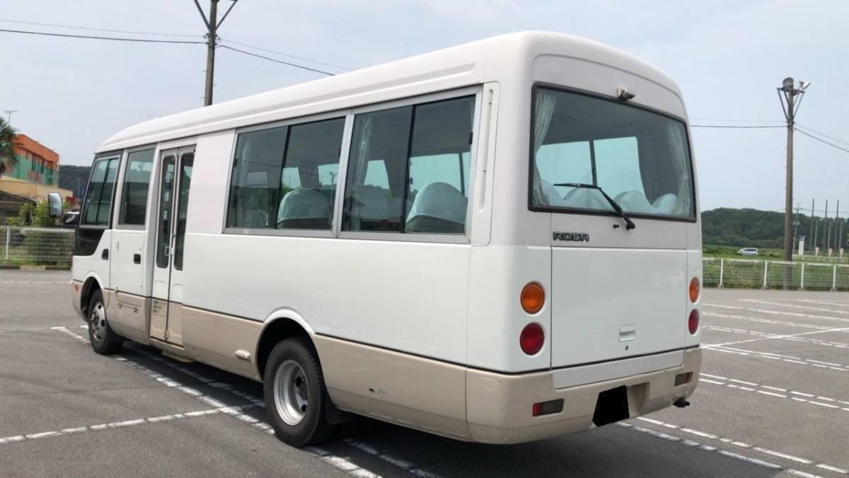 「希少 三菱ふそう H14 ローザ 4WD 霊柩車 24人乗 助手席ドア付 自動ドア 5MT ディーゼル Nox/PM適合」の画像3