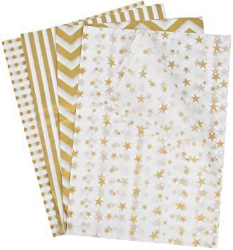 Idealeben ラッピングペーパー 35 * 50 cm 薄葉紙 ラッピング 包装紙 梱包 4種類 20枚入り おしゃれ ギ_画像1