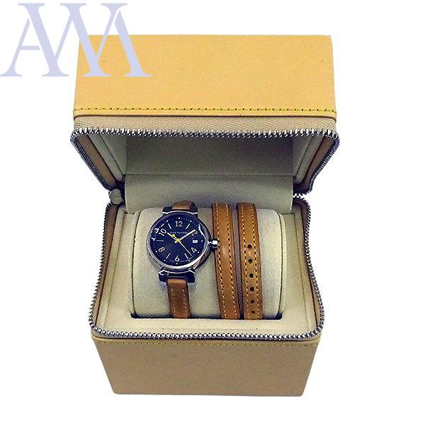 【LOUIS VUITTON ルイヴィトン】タンブール Q1211 クォーツ レディース 腕時計【美品中古】_画像6