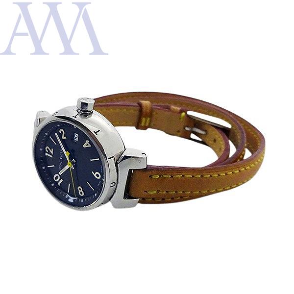 【LOUIS VUITTON ルイヴィトン】タンブール Q1211 クォーツ レディース 腕時計【美品中古】_画像3