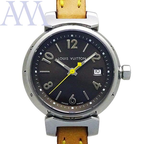 【LOUIS VUITTON ルイヴィトン】タンブール Q1211 クォーツ レディース 腕時計【美品中古】_画像1