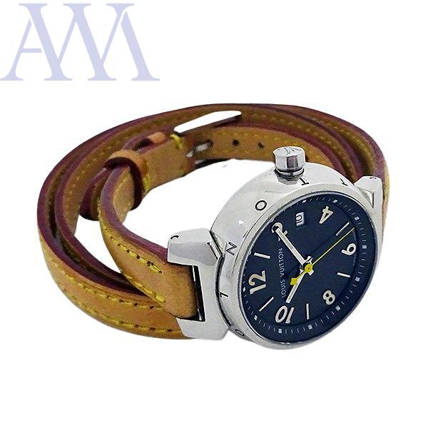 【LOUIS VUITTON ルイヴィトン】タンブール Q1211 クォーツ レディース 腕時計【美品中古】_画像4