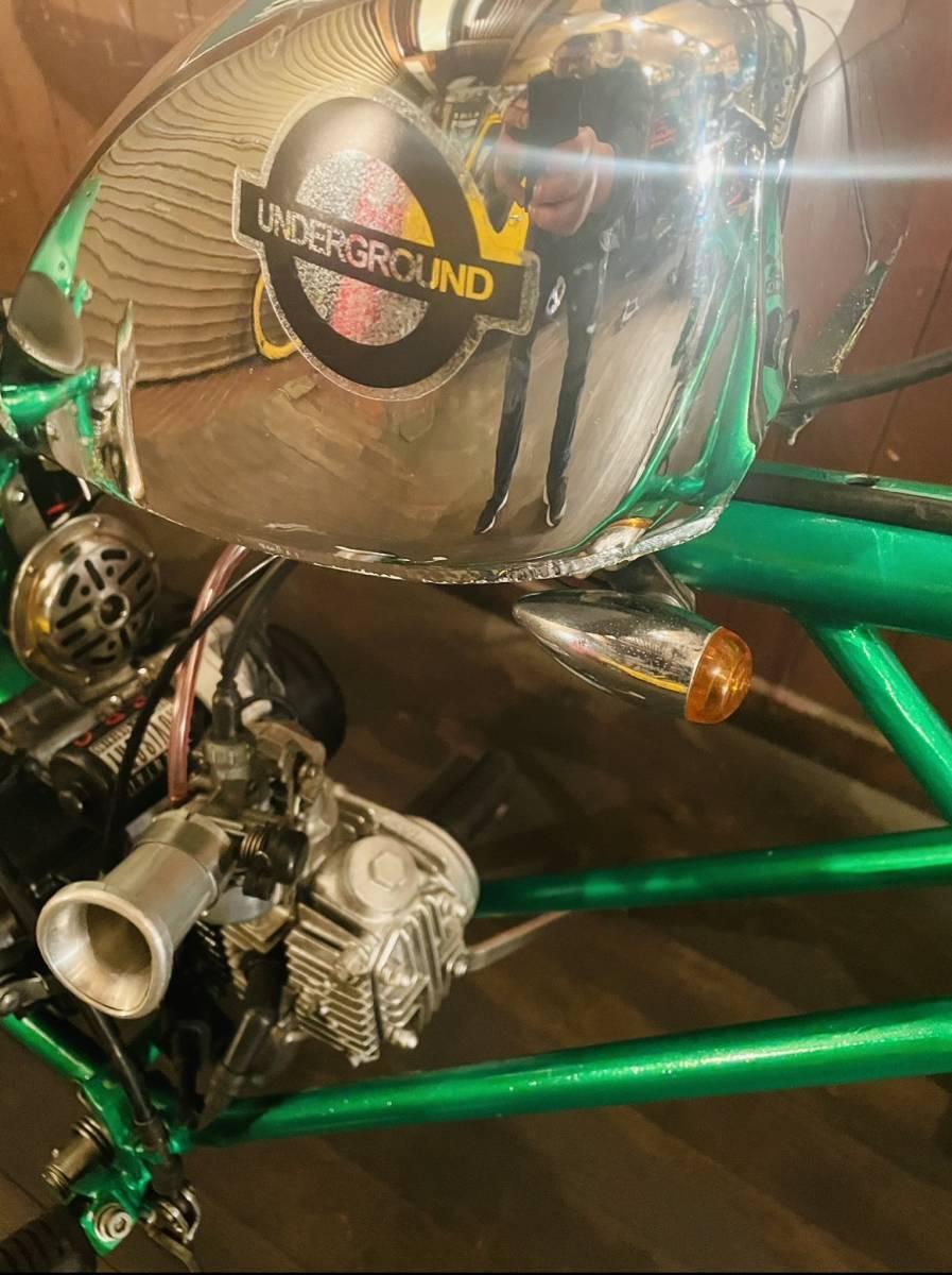 【値下げ】HONDAマグナ50フルカスタムチョッパーワンオフティガーフレーム(エンジン好調書類有り)今だけワンオフロンスイ差し上げます。_画像6