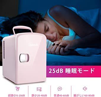 02ピンク AstroAI 冷蔵ノ 小型 ミニ冷蔵庫 小型冷蔵庫 冷温庫 4L 小型でポータブル 化粧品 家庭 車載両用 保温 _画像9