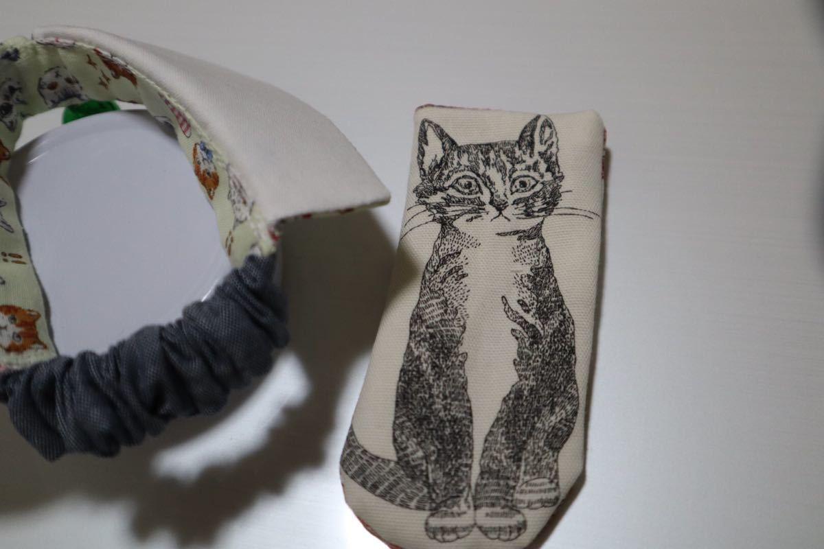 【M】襟付き首輪 猫用 おまけ付き A