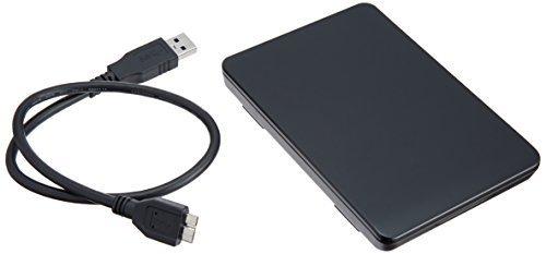 サイズUSB3.0 玄人志向 SSD/HDDケース(ブラック) 2.5型 USB3.0接続 ACアダプター不要/ネジ止め不要/3ス_画像1