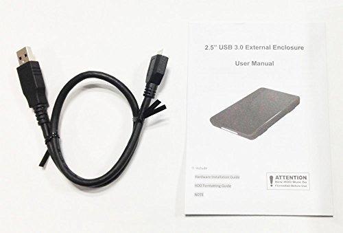 サイズUSB3.0 玄人志向 SSD/HDDケース(ブラック) 2.5型 USB3.0接続 ACアダプター不要/ネジ止め不要/3ス_画像4