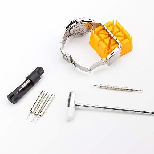 色腕時計修理工具セット 腕時計修理工具セット(15点セット) 時計修理ツール 腕時計工具 腕時計ベルト調整 サイズ調整 電池交換 _画像6