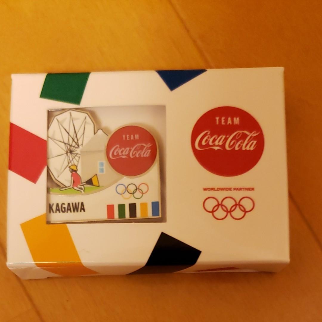 東京オリンピック 2020 チーム コカ・コーラ オリンピック聖火リレー 都道府県ピンバッチ 香川県