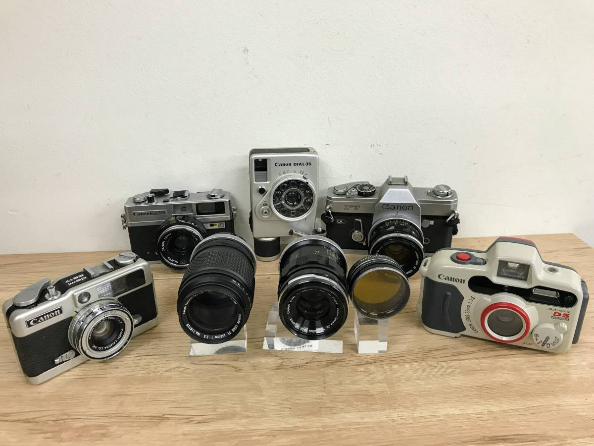 [IY986]カメラ フィルムカメラ canonカメラ/レンズおまとめ canonFT/canonDATEMATIC/canonAutoboy/canondemiee17他 ジャンク品 80サイズ