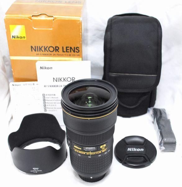 【新品級の超美品・メーカー保証書 付属品完備】Nikon ニコン AF-S NIKKOR 24-70mm f/2.8 E ED VR