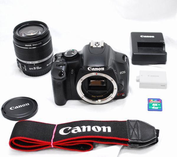 【超美品・SDカード付】Canon キヤノン Kiss X2 EF-S 18-55mm IS