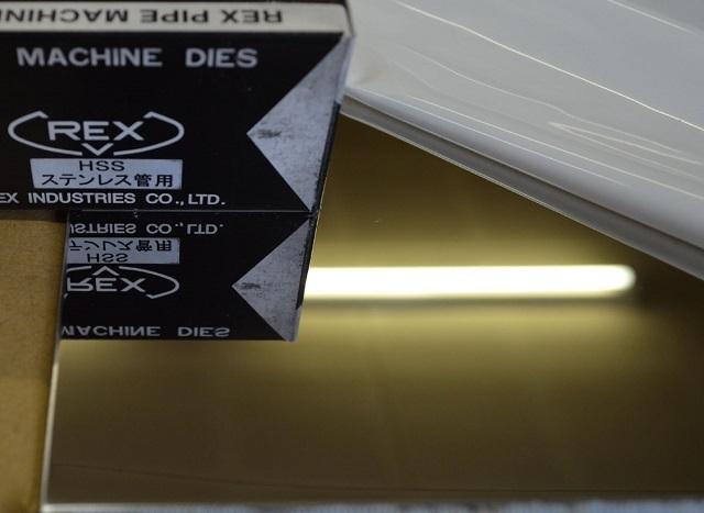 ステン板片面#700研磨品(0.6~2.0mm厚)の(300x200~100x100mm)小型定寸・枚数販売 S11_画像3