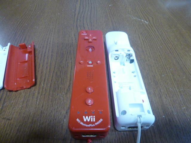 RSJ79【送料無料 即日配送 動作確認済】Wii リモコン モーションプラス ジャケット ストラップ 2個セット ホワイト レッド RVL-036