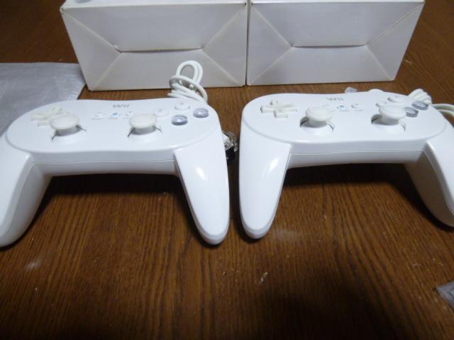 C19【送料無料 即日配送 動作確認済】Wii クラシックコントローラー 白 シロ ホワイト 2個セット RVL-005 任天堂 Nintendo プロコン