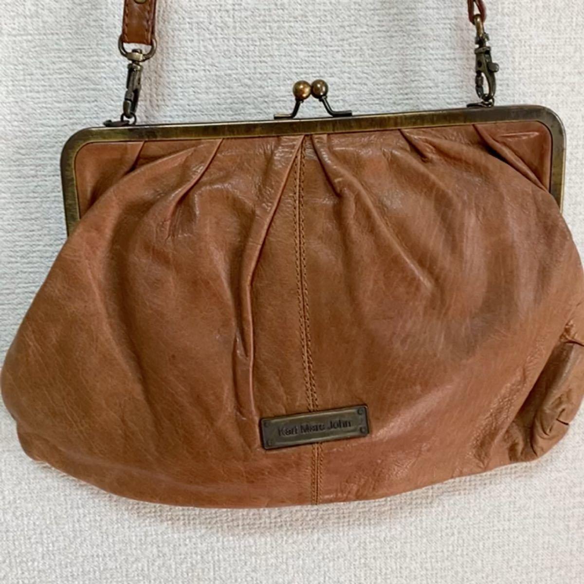 vintage フランス製 本革  クラッチバッグ がま口 ショルダーバッグ ハンドバッグ ヴィンテージ ショルダーバック