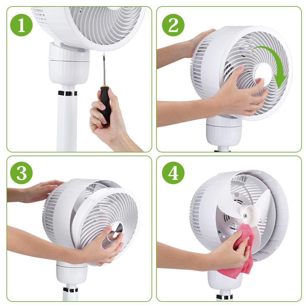 サーキューレーターファン扇風機 首振り扇風機 リモコン付き 左右上下首振り_画像2