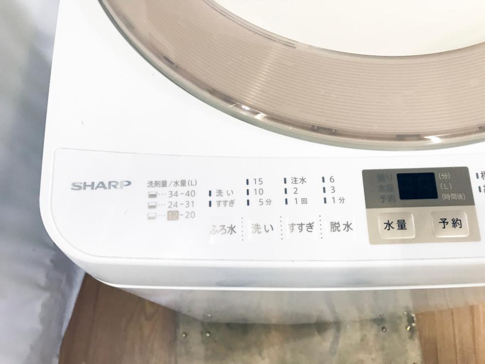 送料無料★2017年製★極上超美品 中古★SHARP☆7.0kg☆全自動洗濯機☆黒カビからガード!!☆少ない水でしっかり洗浄!!【ES-GE7A-N】F616_画像5