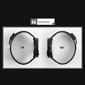 PHCOOVERS デジタル 腕時計 メンズ レディース 男女兼用 ミリタリー ウォッチ アラーム クロノグラフ 多機能 (ブラ_画像5