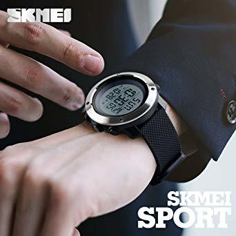 PHCOOVERS デジタル 腕時計 メンズ レディース 男女兼用 ミリタリー ウォッチ アラーム クロノグラフ 多機能 (ブラ_画像3
