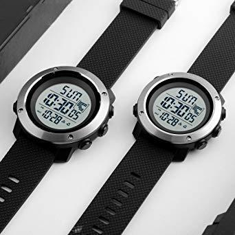 PHCOOVERS デジタル 腕時計 メンズ レディース 男女兼用 ミリタリー ウォッチ アラーム クロノグラフ 多機能 (ブラ_画像4