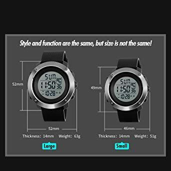 PHCOOVERS デジタル 腕時計 メンズ レディース 男女兼用 ミリタリー ウォッチ アラーム クロノグラフ 多機能 (ブラ_画像6